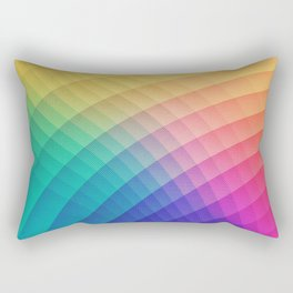 Spectrum Bomb! Fruity Fresh (HDR Rainbow Colorful Experimental Pattern) Rectangular Pillow