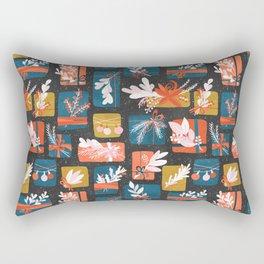 Gift Box on black Rectangular Pillow