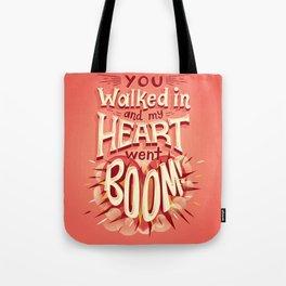 Heart went boom Tote Bag