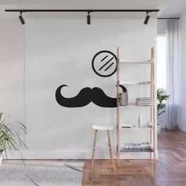 Mustache and Monocle Wall Mural