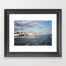 Beaufort, NC docks Framed Art Print