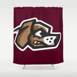 Scrappy Beagles Logo Shower Curtain