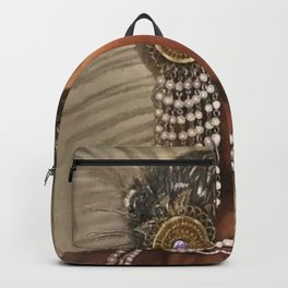 African American Masterpiece 'Cotton Club Flapper Dance Girl' Portrait Painting Backpack