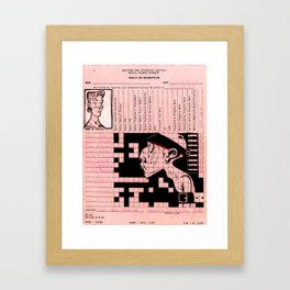 Greystone Park Psychiatric Hospital Records - New Jersey Framed Art Print