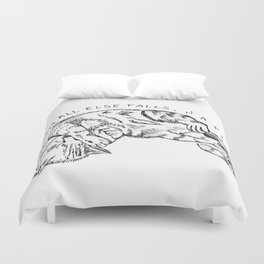 When all else falls, nap! Duvet Cover