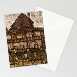"Egon Schiele ""House with Shingle Roof (Old House II)"" Stationery Cards"