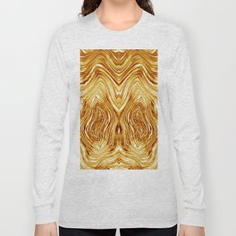Abstract Gold/Tiger Pattern 2 Long Sleeve T-shirt