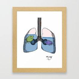 Breathing in Water Framed Art Print