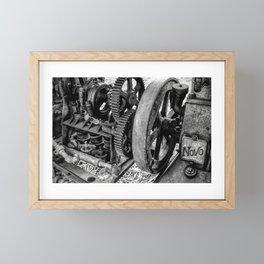 Novo Antique Gas Engine Framed Mini Art Print