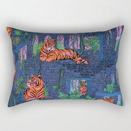 Labyrinth of the Tiger King Rectangular Pillow