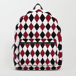 Diamond Harlequin Pattern Backpack