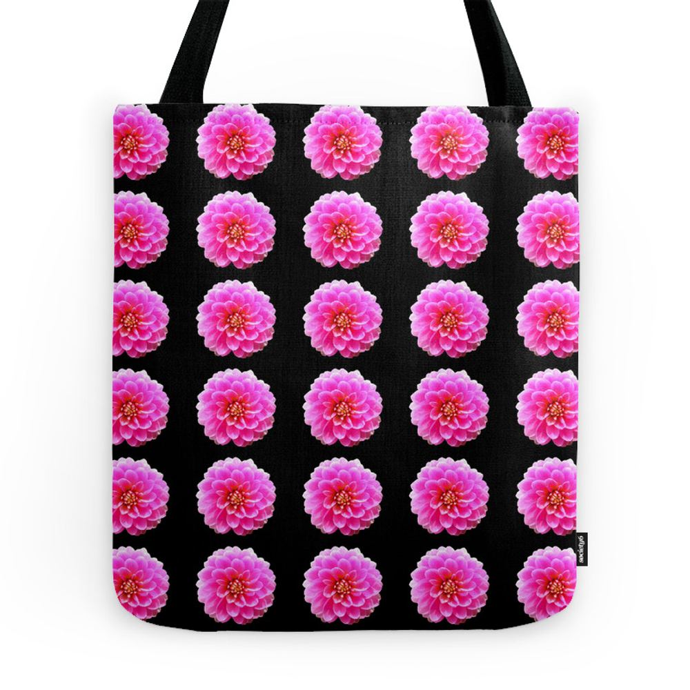 Pink and Black Tote Purse by catiej (TBG7592740) photo