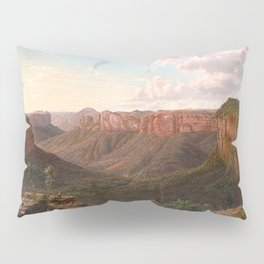Govett's Leap and Grose River Valley, Blue Mountains, New South Wales by Eu von Guerard Date 1873  R Pillow Sham