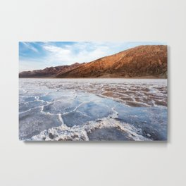 Badwater Reflections Metal Print