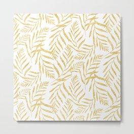 Leaves Golden #society6 #buyart Metal Print