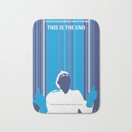 No220 My This is the end minimal movie poster Bath Mat