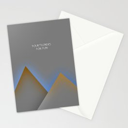 fourteeners for fun Stationery Cards