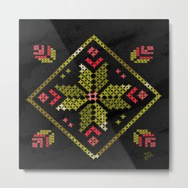 Spiced Embroideberry Metal Print