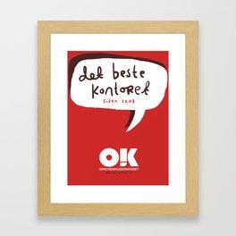 OK plakat - Det beste kontoret Framed Art Print