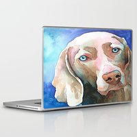 greg guillemin Laptop & iPad Skins featuring Greg The Weimaraner by bmeow