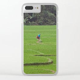 Rice Paddies in Kho Muong, Vietnam Clear iPhone Case
