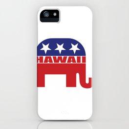 Hawaii Republican Elephant iPhone Case