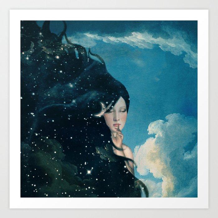 Shhh...Lady Night Is Coming Art Print