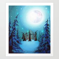 coven Art Prints featuring Witch Coven by Annya Kai