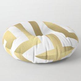 Gold Greek Stripes Floor Pillow