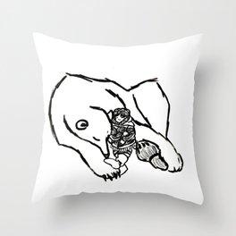 Polar Hugs Throw Pillow