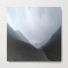 Back in the crouching mountains... Glencoe, Scotland Metal Print