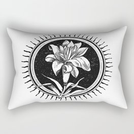 White flower Flor blanca Rectangular Pillow