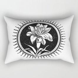 White flower Flor blanca Rectangular Pillow