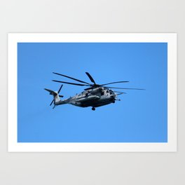 Marine Helicopter In Flight Art Print