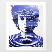 dylan Art Prints featuring Dylan by Alex Carlson