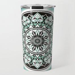 Mandala Design Sea Blue Aqua Theme Travel Mug