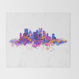 Pittsburgh Skyline Throw Blanket