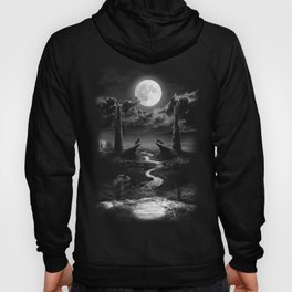 XVIII. The Moon Tarot Card Illustration Hoody