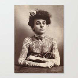 Maud Wagner Tattoo Photograph Canvas Print