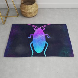 COCKROACH IN SPACE // Animal Graphic Art // Watercolor Canvas Painting // Modern Minimal Cute Rug