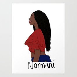 Normani Kordei 2.0 Art Print