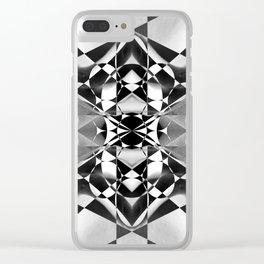 -b}{w- Clear iPhone Case