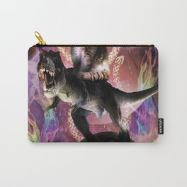 Evil Space Laser Cat On Dinosaur Unicorn On Taco Carry-All Pouch