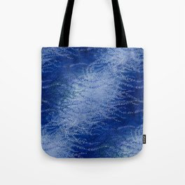 Wind-whipped Vines (blue) Tote Bag