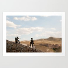 Soldiers watching Art Print