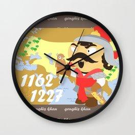 Genghis Khan Wall Clock