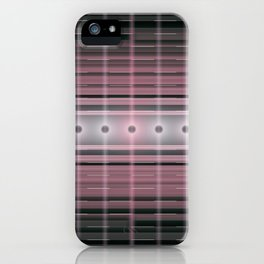 Futuristic information transmission by light, electric power transmission, network electric supply. iPhone Case