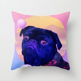 BatDog Summer Time Throw Pillow
