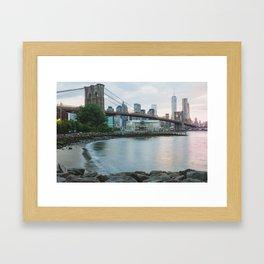 New York City Sunsets Framed Art Print