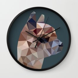 Geometric Alpaca Teddy Wall Clock
